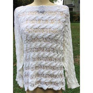 Anthropologie Moth Ribbon Woven Top Shirt L